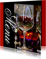 Menukaart 5 - Wijnglazen
