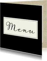menukaart chique zwart label
