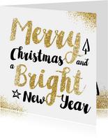 Merry Christmas met gouden glitters