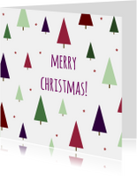 Kerstkaarten - Merry-christmas-patroon