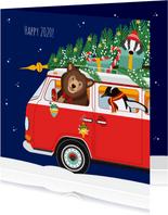 Gelukkig nieuwjaar voor iedereen vanuit een gezellige VW-bus