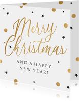 Merry-Christmas-Weihachtskarte Punkte und Sterne