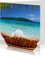 Met pensioen op het strand