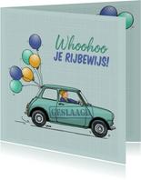 Mini rijbewijs geslaagd groen