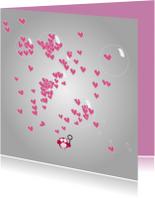 Mo Card lieve valentijnskaart met schattig uiltje