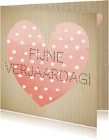 Mo Cards felicitatie verjaardagskaart lief met hart - vrouw