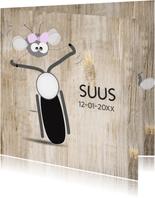 Mo Cards stoer en grappig geboortekaart met motor