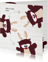 Kerstkaarten - Mo Cards kerstkaart uil rendier