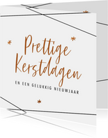 Moderne zakelijke kerstkaart met bronskleur teksten