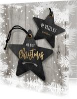 Moderne zakelijke kerstkaart ster labels