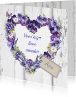 moederdag bloemenhart
