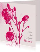 Moederdag kaarten - Moederdag Bloemenkaart anjer