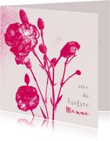 Moederdag Bloemenkaart anjer