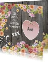 moederdag hart bloemen
