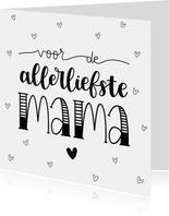 Moederdag kaart - Voor de allerliefste mama