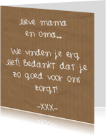 Moederdag - Lieve mama en oma