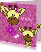 Moederdag   mama giraf en haar kindje