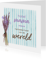 Moederdag waterverf hotel mama
