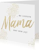 Moederdagkaart goud mama hartjes foto's stijlvol