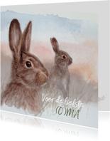 Moederdagkaart met konijn