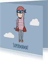 Moederdagkaart Supermama in de wolken!