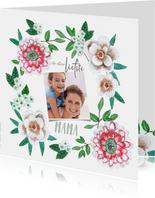 Moederdagkaarten frisse bloemen voor mama of oma