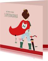 Moederdagkaartje voor de allerliefste supermama