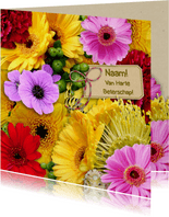 Mooie beterschapskaart met bos bloemen