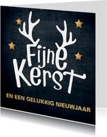 mooie kerstkaart typografisch