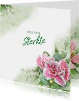 Mooie klassieke sterkte kaart met bloemen en takjes