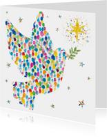 Mooie zakelijke kerstkaart met vredesduif