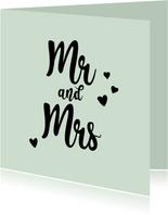 Mr&Mrs - positive - felicitatiekaart