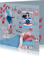 Multi task super mama moederdag kaart