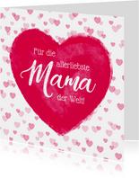 Muttertagskarte Allerliebste Mama Herz