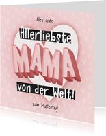 Muttertagskarte Allerliebste Mama
