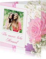 Muttertagskarte mit Foto und Rose