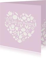 Muttertagskarte Papercut Herz
