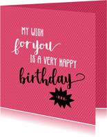 My wish for you - felicitatiekaart