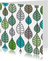 Natuur patroon rouwkaart