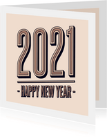 Neujahrskarte 2021 Typografie