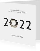 Neujahrskarte Baubranche 2022 Mutter