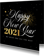 Neujahrskarte Firma Sternenhimmel