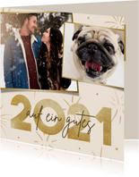 Neujahrskarte Fotos 'Auf ein gutes...'