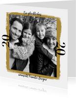 Neujahrskarte großes Foto mit Jahreszahl