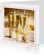 Neujahrskarte mit Einladung zum Neujahrsempfang
