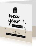 New year new home huisje kraft met hartjes