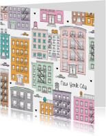 New York pastel illustratie