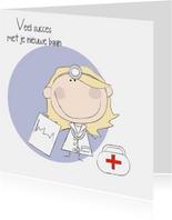 Nieuwe baan arts- vrouw