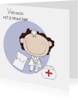 Felicitatiekaarten - Nieuwe baan arts