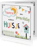 Felicitatiekaarten - Nieuwe Woning - Hoera een prachtig nieuw huisje